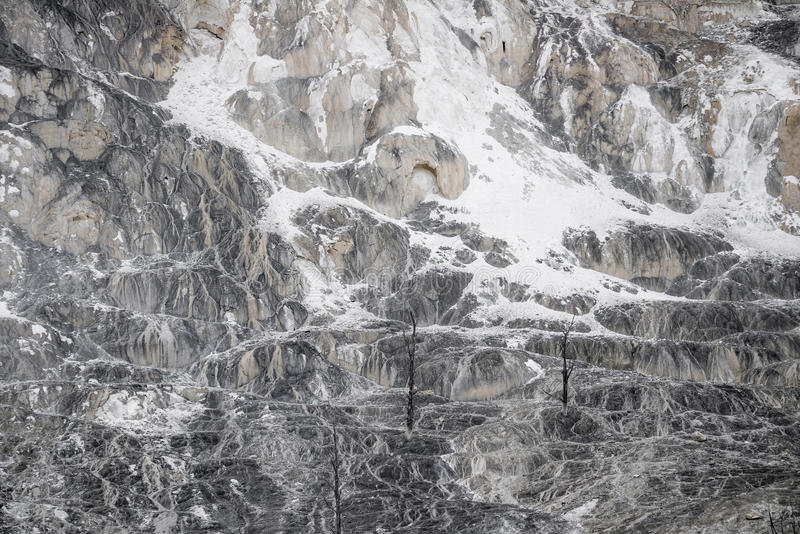 Fondo di struttura della roccia del vulcano - yellowston di Mammoth Hot Springs fotografia stock libera da diritti