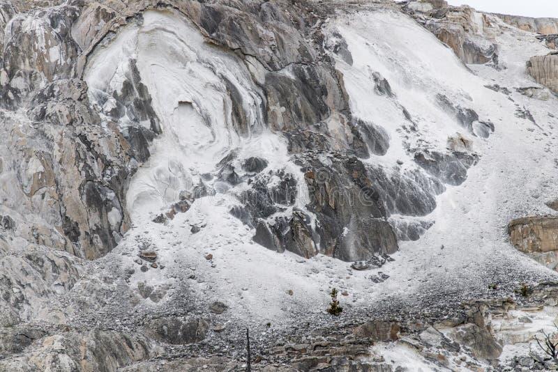 Fondo di struttura della roccia del vulcano - yellowston di Mammoth Hot Springs immagine stock