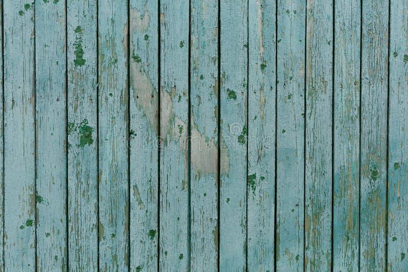 Fondo di struttura di legno del turchese, bordo di legno di vista superiore fotografie stock