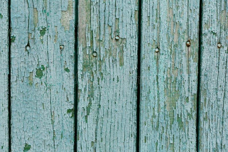 Fondo di struttura di legno del turchese, bordo di legno di vista superiore immagini stock libere da diritti