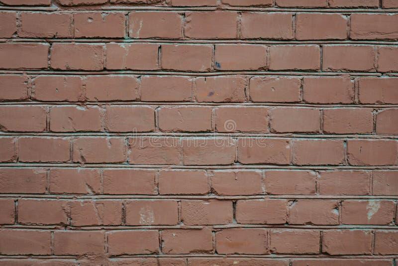 Fondo di struttura rossa del modello del muro di mattoni Grande per le iscrizioni dei graffiti fotografie stock