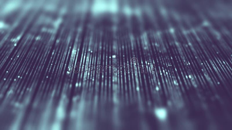 Fondo di tecnologia di business intelligence Apprendimento profondo di algoritmi di codice binario Analisi di realtà virtuale Sci immagine stock