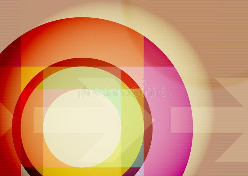 Fondo di tecnologia con il cerchio e le frecce illustrazione vettoriale