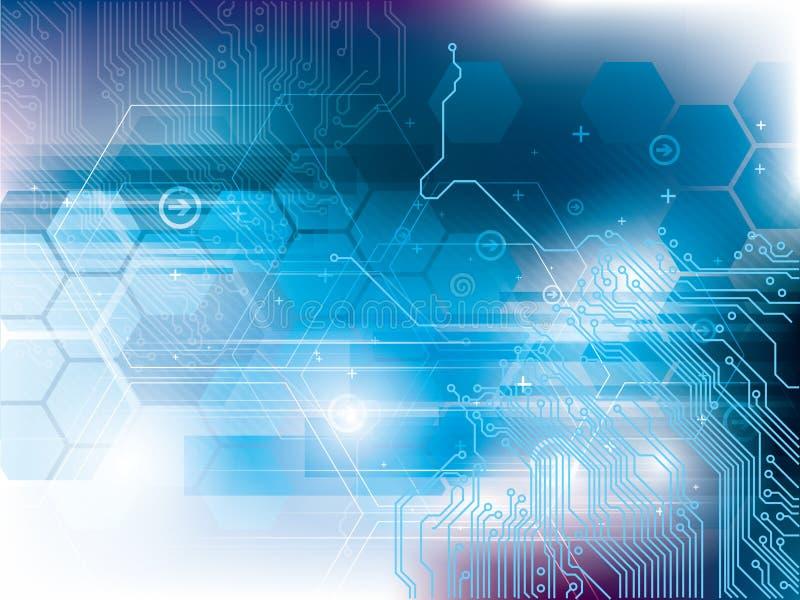 Fondo di tecnologia con il circuito integrato illustrazione vettoriale