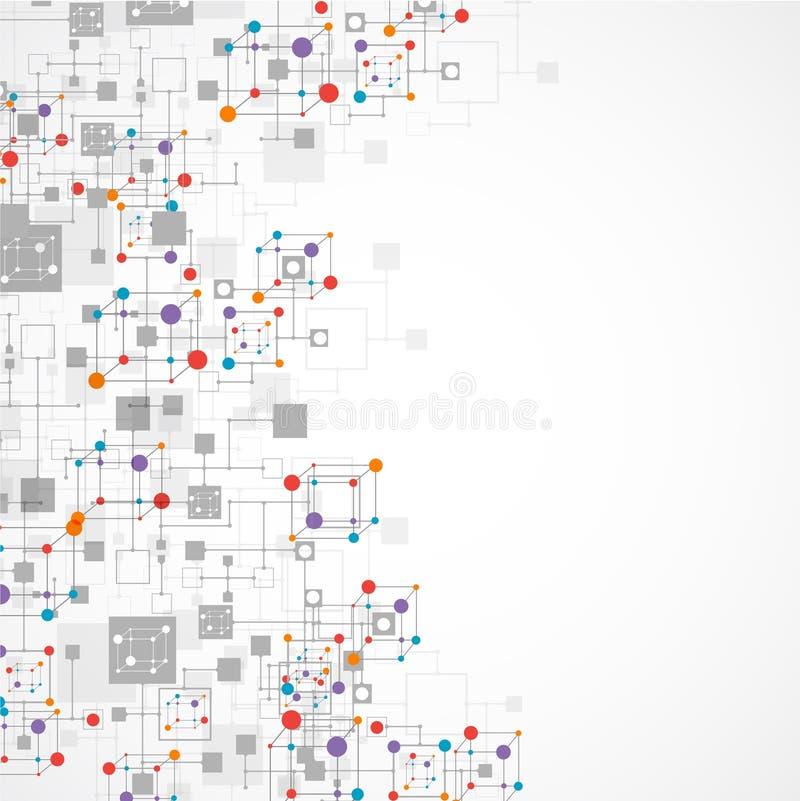 Fondo di tecnologia di colore della rete illustrazione vettoriale