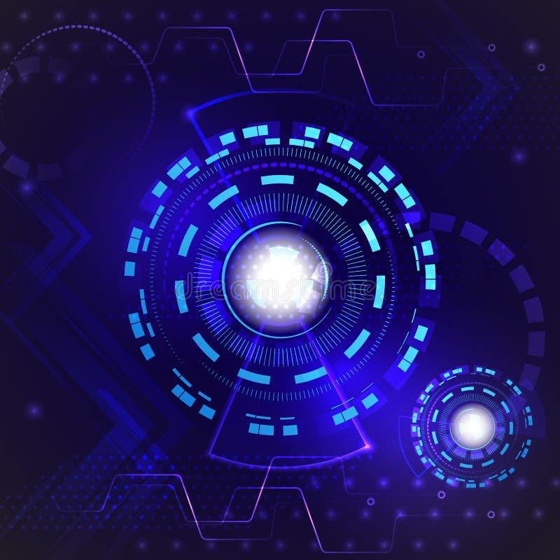 Fondo di tecnologia di Internet di velocità dell'estratto ciao Digital techna royalty illustrazione gratis
