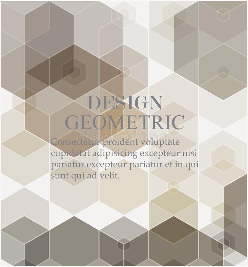 Fondo di tecnologia digitale Fondo astratto geometrico con gli esagoni royalty illustrazione gratis