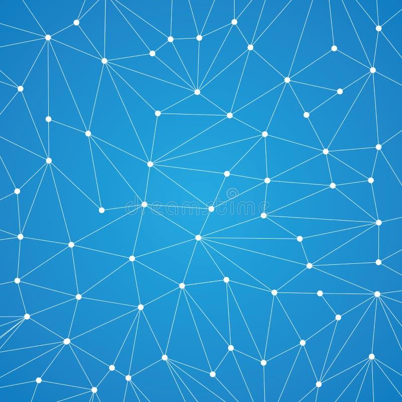 Fondo di tecnologia per il sito Web dai punti bianchi del connecti illustrazione vettoriale