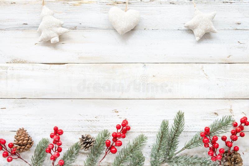 Fondo di tema di Natale con la decorazione immagine stock