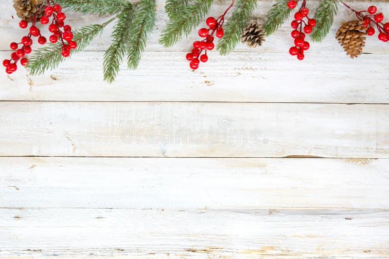 Fondo di tema di Natale con la decorazione fotografie stock libere da diritti
