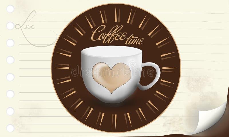Fondo di tempo del caffè royalty illustrazione gratis