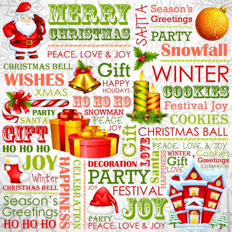 Fondo di tipografia di Natale royalty illustrazione gratis