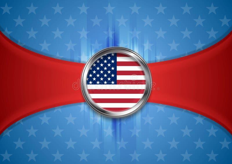 Fondo di U.S.A. Festa del Lavoro Priorità bassa del grunge di indipendenza Day illustrazione di stock
