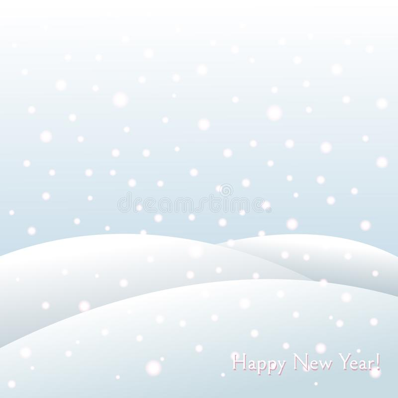 Fondo di vacanza invernale sui cumuli di neve di Natale e del nuovo anno, paesaggio gelido di caduta di inverno dei fiocchi di ne royalty illustrazione gratis