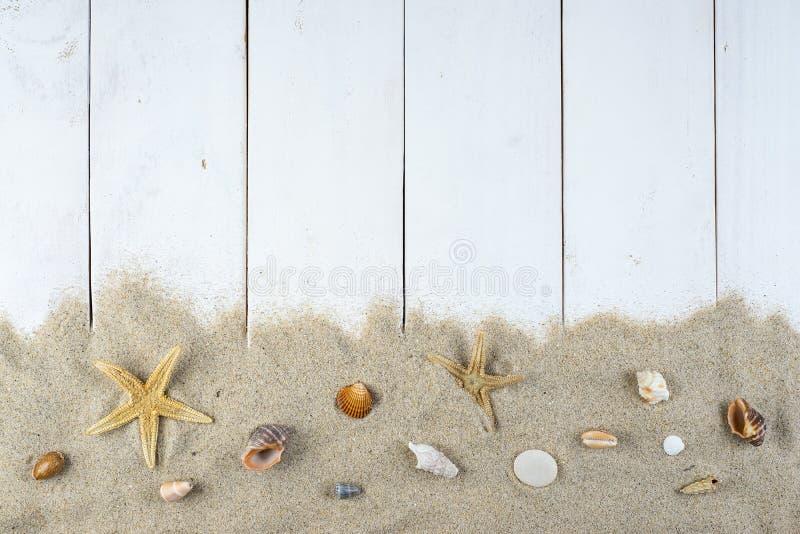 Fondo di vacanze estive con uno spazio per annunciare immagine stock