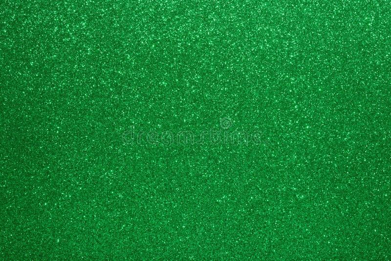 Fondo di Valentine Day Green Glitter del nuovo anno di Natale Tessuto astratto di struttura di festa Elemento, flash immagine stock libera da diritti