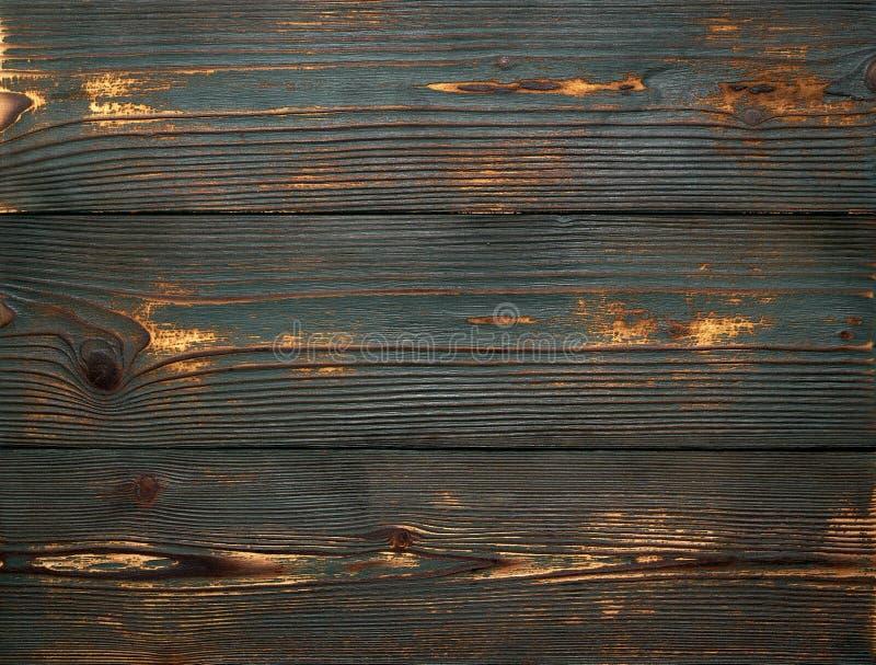 Fondo di vecchi bordi di legno d'annata di colore verde Durato forte e graffiato fotografia stock