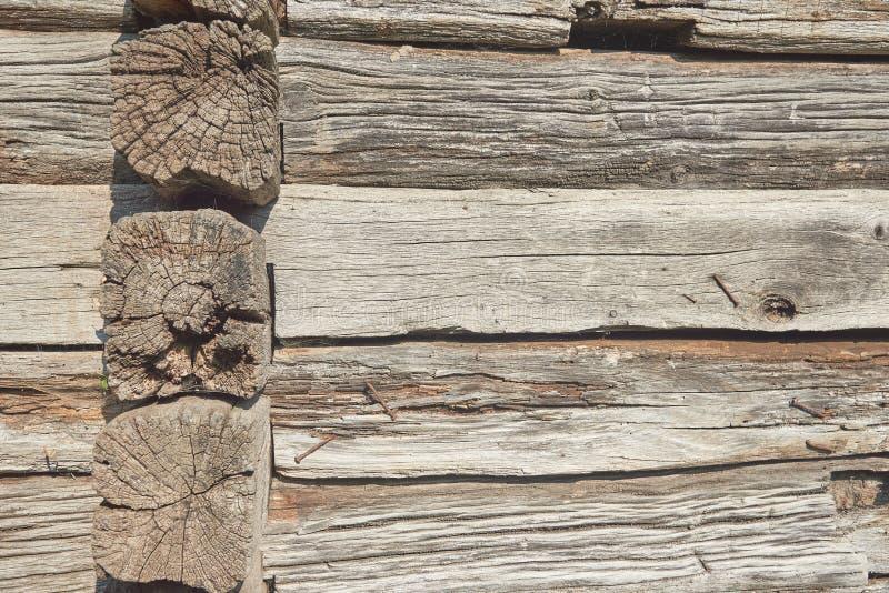 Fondo di vecchio legno marrone con i chiodi arrugginiti immagini stock libere da diritti