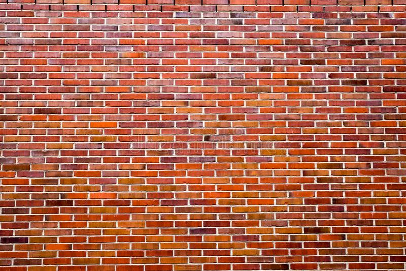 Fondo di vecchio muro di mattoni rosso, effetto d'annata immagini stock