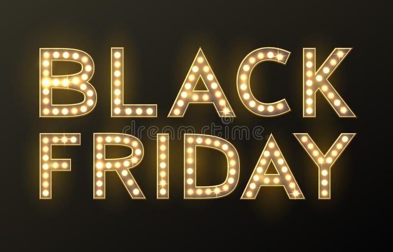 Fondo di vendita di Black Friday, oggetto di sconto illustrazione di stock