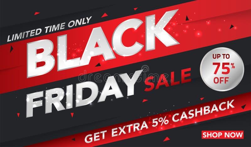 Fondo di vendita di Black Friday per l'affare, la promozione, la pubblicità ed il commercio Illustrazione di vettore illustrazione di stock