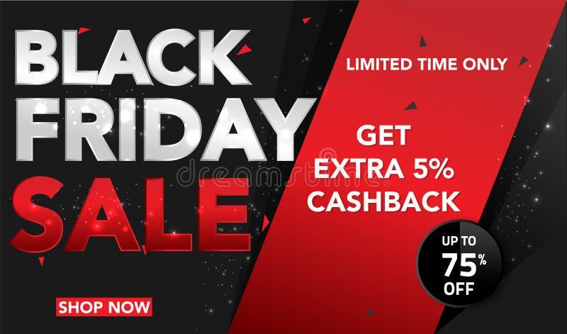 Fondo di vendita di Black Friday per l'affare, la promozione, la pubblicità ed il commercio Illustrazione di vettore illustrazione vettoriale