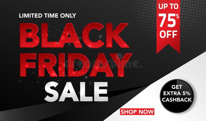 Fondo di vendita di Black Friday per l'affare, la promozione, la pubblicità ed il commercio Illustrazione di vettore royalty illustrazione gratis