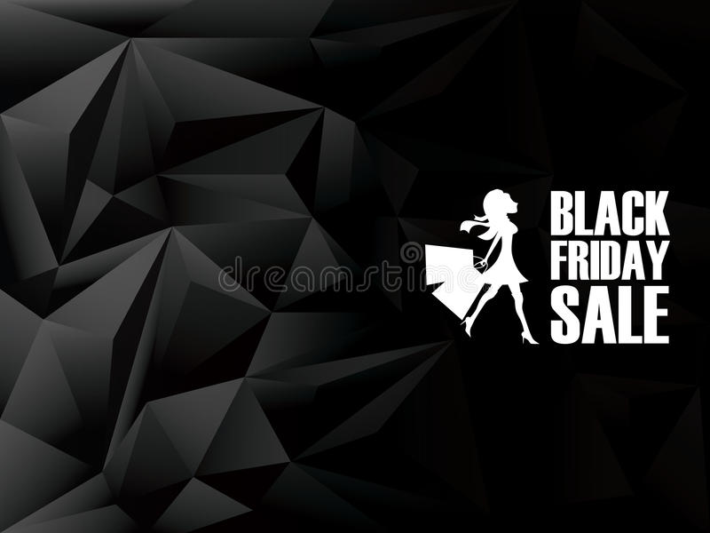 Fondo di vendita di Black Friday Vendite di festa illustrazione di stock