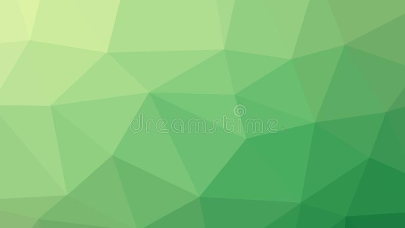 fondo di verde del poligono del triangolo dell'estratto 8K illustrazione di stock