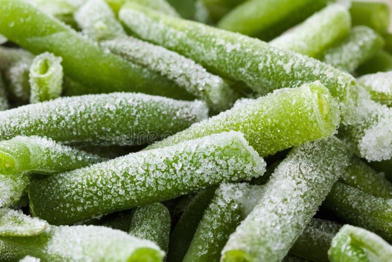 Fondo di verdure dell'alimento, nutrizione sana Fagioli congelati freschi immagine stock libera da diritti