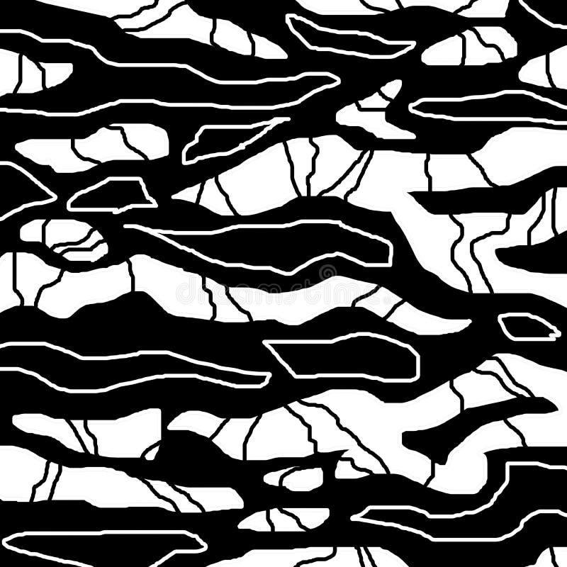 Fondo di verniciatura in bianco e nero digitale dell'estratto illustrazione di stock