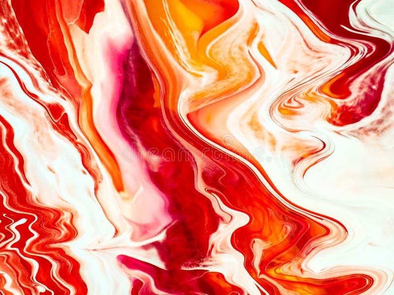 Fondo di verniciatura moderno al neon dei dettagli dell'estratto illustrazione di stock