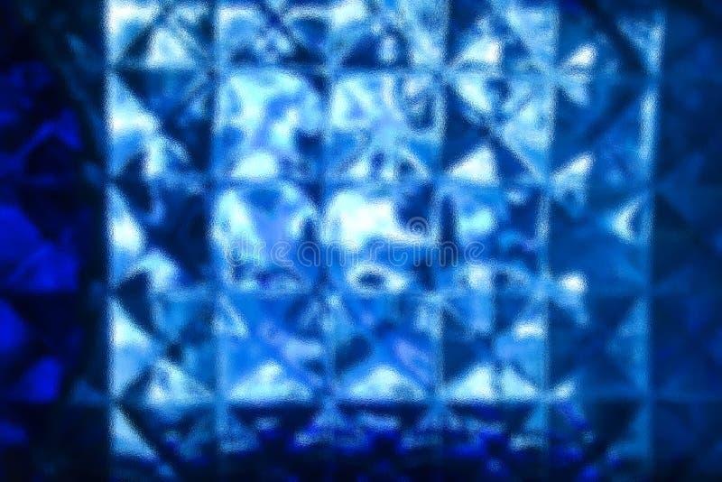 Fondo di vetro blu astratto fotografie stock libere da diritti