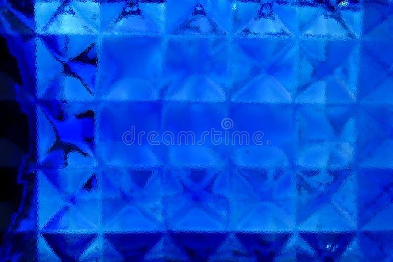 Fondo di vetro blu astratto immagini stock libere da diritti