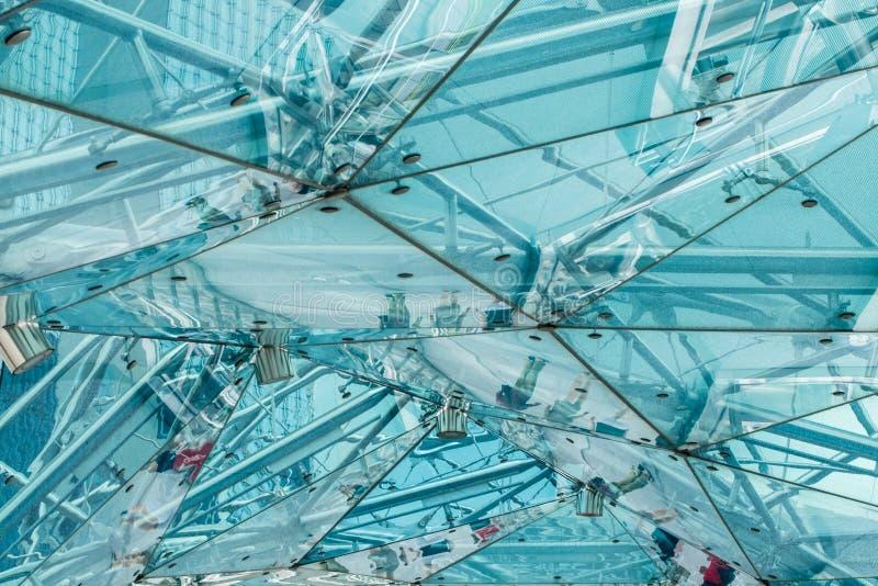 Fondo di vetro di costruzione moderno del riparo di progettazione immagini stock