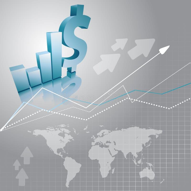 Fondo di vettore con i dollari illustrazione vettoriale