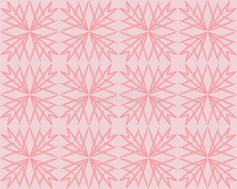 Fondo di vettore di Coral Pink Geometric Triangle Pattern Rose Gold Shimmering Metallic Gradient ha sfaccettato la poli stampa ba royalty illustrazione gratis