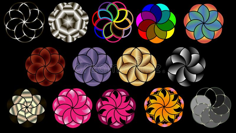 Fondo di vettore dei cerchi concentrici illustrazione vettoriale