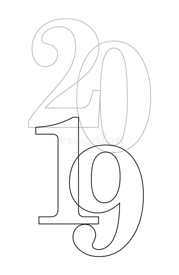 Fondo di vettore del buon anno 2019 Copertura della carta per 2020 illustrazione di stock