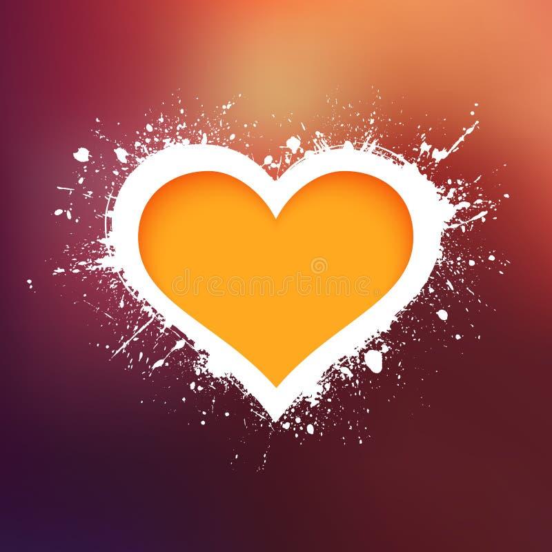 Fondo di vettore del cuore di lerciume illustrazione vettoriale