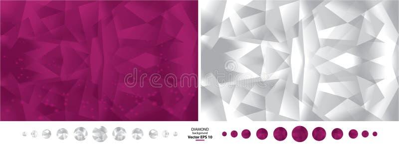 Fondo di vettore del diamante nei colori porpora e bianchi royalty illustrazione gratis