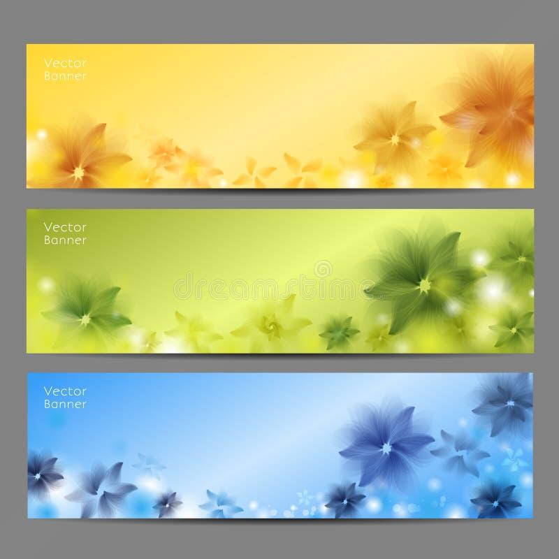 Fondo di vettore del fiore/modello/insegna astratti dell'opuscolo illustrazione vettoriale