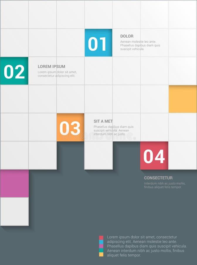 Fondo di vettore del modello del modello di infographics di heckerboard del ¡ di Ð illustrazione di stock