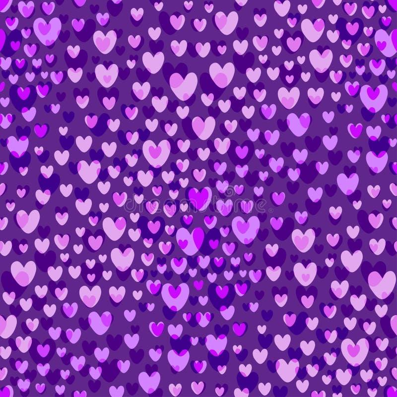 Fondo di vettore del modello delle Purple Heart al valor militare Reticolo senza giunte di giorno dei biglietti di S illustrazione vettoriale