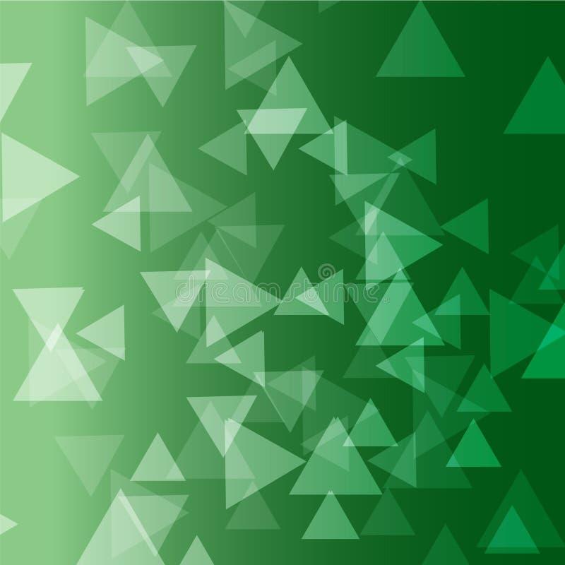 Fondo di vettore del triangolo di colore verde fotografie stock