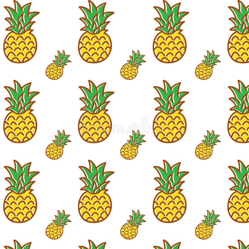 Fondo di vettore dell'ananas fotografie stock