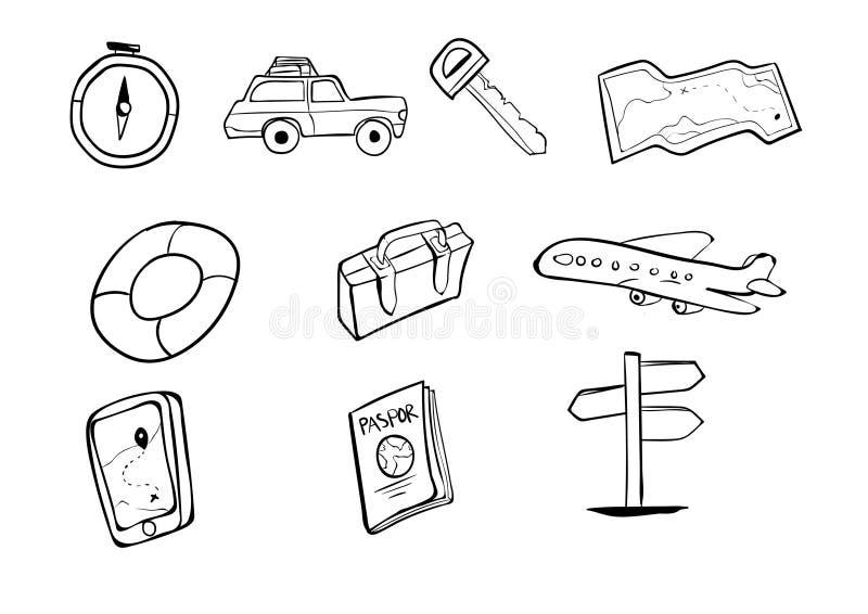 Fondo di vettore dell'icona di festa di viaggio royalty illustrazione gratis