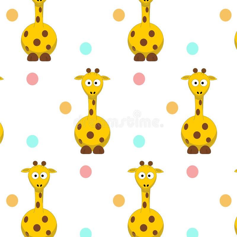 Fondo di vettore della giraffa del modello fotografie stock