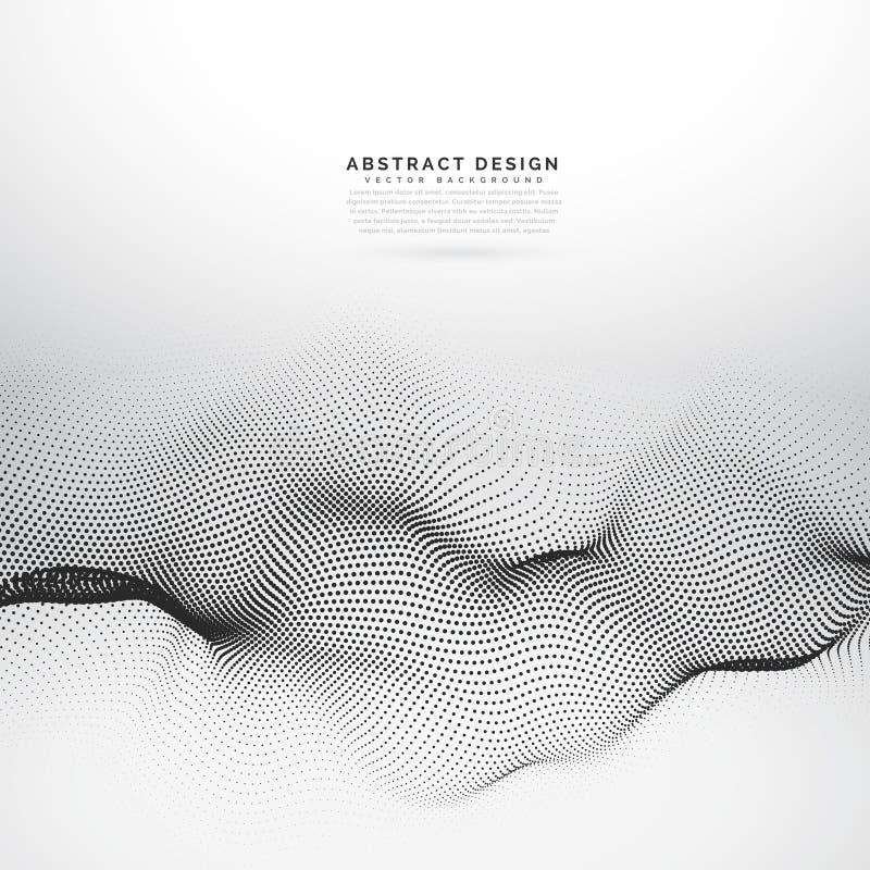 fondo di vettore della maglia del wireframe della particella 3d illustrazione vettoriale