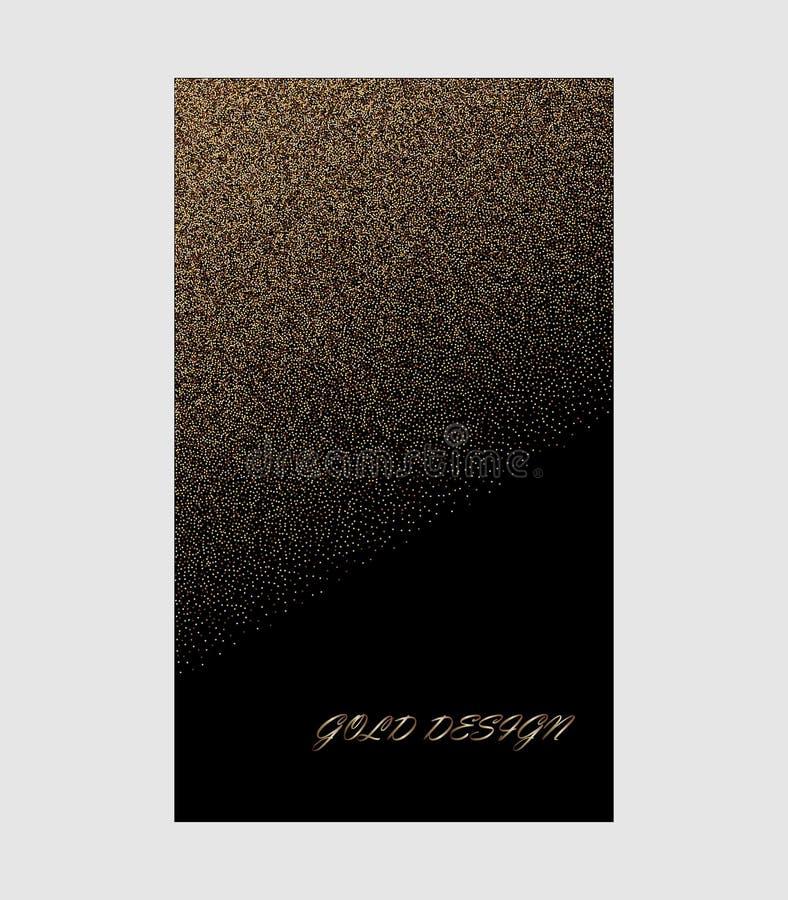 Fondo di vettore della spruzzata della polvere di scintillio dell'oro Contesto nero sparso dorato di modo alla moda della polvere royalty illustrazione gratis